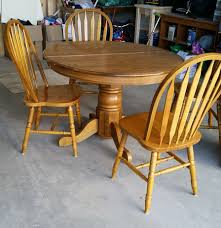 100 Oak Pedestal Table And Chairs 90s Makeover Painting Pinterest Kitchen Table