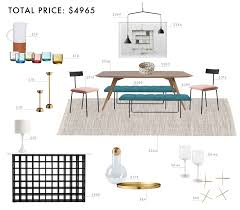 Emily Henderson Budget Room Design Colorful Mid Century Modern Dining Under Gif