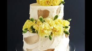 Rustic Gold Buttercream Strokes Rosies Dessert Spot