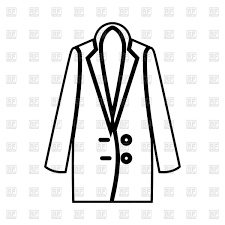 Woman overcoat outline Royalty Free Vector Clip Art
