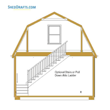 20×24 Gambrel Roof Barn Shed Plans Blueprints For Making Spacious