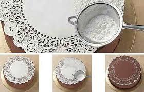 decoration patisserie en chocolat décoration des gâteaux avec du sucre glace