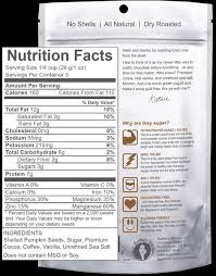 Shelled Pumpkin Seeds Nutritional Value by Product Review Superseedz Gourmet Chocolate Covered Pumpkin Seeds