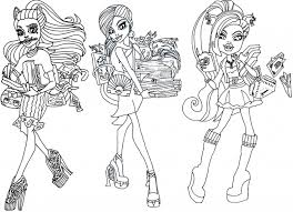 Free Printable Monster High Coloring Pages 13 Wishes Haunt In