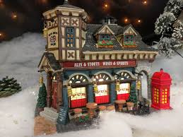 Menards Christmas Tree Storage Container by Big Ben Pub 2012 Christmas Village From Lemax