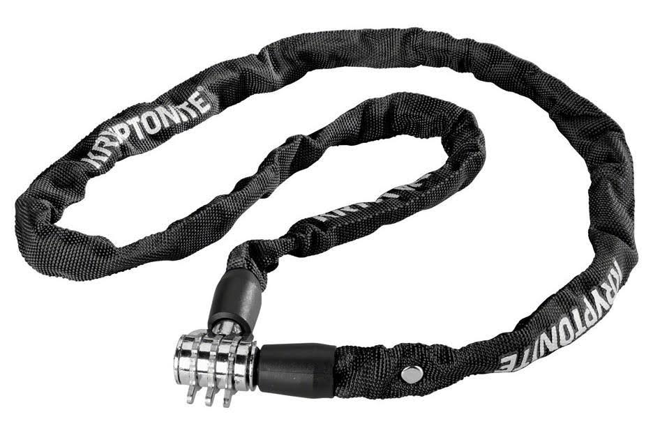 Kryptonite 4349 Combination Chain Lock - Black, 110cm
