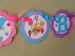 Bubble Guppies Bathroom Decor by Bubble Guppies Birthday Banner Bubble Guppies Birthday Bubble
