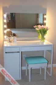 Makeup Vanity Table With Lighted Mirror Ikea by Furniture Beauty Dress Up With Makeup Desk With Lights