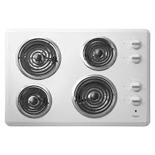 Shop Whirlpool Coil Electric Cooktop White mon 30 in