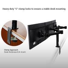 Dell Monitor Arm Desk Mount by D1t Triple Monitor Mounts For 10 U2033 24 U2033 U2013 Fleximounts