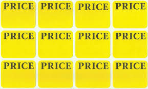 Tavy Two Sided Tile Spacers by 300 Price Labels Removable Self Adhesive Pricing Yellow Color