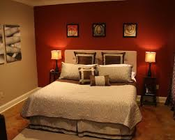 Red Bedroom Feature Wall