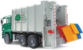 Bruder Toys Man Garbage Truck Rear Loading Green - Man Garbage Truck ...
