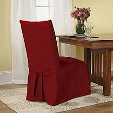 Dining Room Chair Covers With Arms by Sure Fit Cotton Duck Long Arm Dining Room Chair Cover