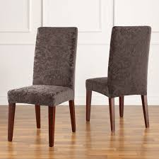 Stretch Jacquard Damask Short Dining Room Chair Cover Buy Now