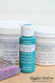 Americana Decor Creme Wax 8 Oz Clear by Decoart Blog Diy Chalky Finish Table