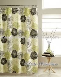 Black And White Flower Shower Curtain by Cream Shower Curtain Foter