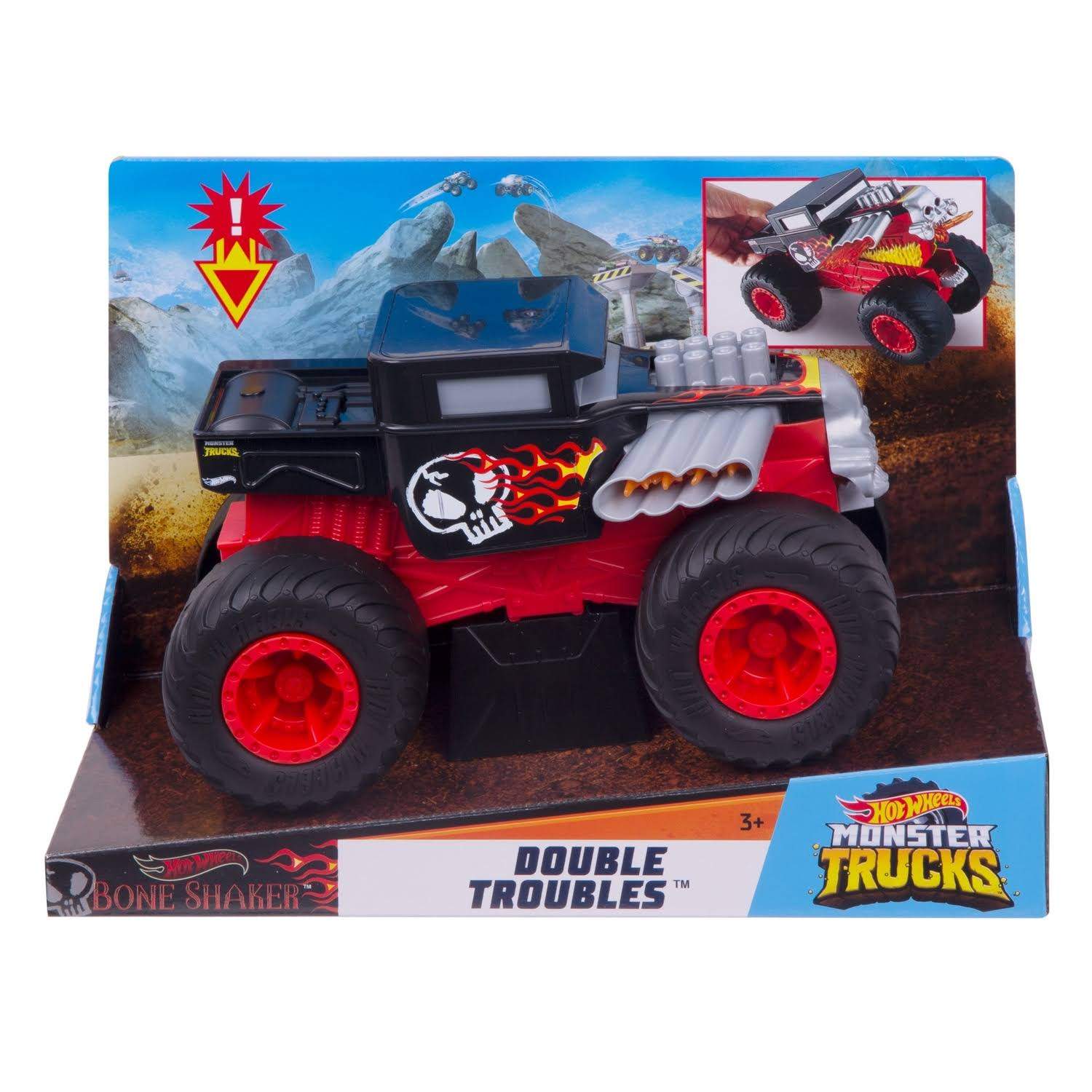 Mattel Hot Wheels Monster Trucks, Big Trouble Game Set
