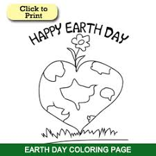 Earth Day Coloring Page Printables
