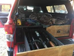 Truck Camper/gun Storage - Tutorial From Lumberjocks.com Truck Gun Storage Springfield Xd Forum 57 Back Seat Rack Game Winner Camo Suv Rifle Shotgun Holder Car Pickup Hunting What Requirements Should Be In Your Safe Ford Universal Front Mount Kit For Ar Carrier Tl4 Land Rover Defender Drawer Box Safe Transk9 The Best Ideas Top Reviews 2019 20 Tx15 Light Enhanced Lone Star Armory