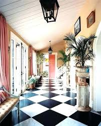 Black And White Linoleum Tile Check Floor Checkered G Lino Tiles