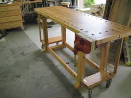 Woodworking Bench On Wheels With Wonderful Images In
