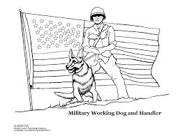 Military Dog Coloring Page
