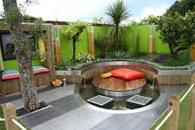 Gorgeous Small Modern Backyard Idea With Round Deck And Window ... Tiny Backyard Ideas Unique Garden Design For Small Backyards Best Simple Outdoor Patio Trends With Designs Images Capvating Landscaping Inspiration Inexpensive Some Tips In Spaces Decors Decorating Home Pictures Winsome Diy On A Budget Cheap Landscape