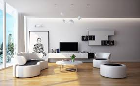 Bold Neutral Black And White Living Room Furniture