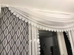 ado gardinen überhang querbehang komplett gardine überhänge