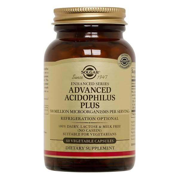 Solgar Advanced Acidophilus Plus Dietary Supplement - 60 Capsules