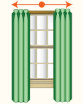 One Way Decorative Traverse Curtain Rods by Kirsch Drapery Hardware That Open And Close Drapes Are Called