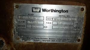 worthington 15h277 2 vertical turbine pump transamerican