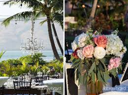 Chandelier Over Sweetheart Table And Flowers By Maui Floral