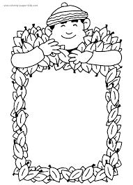 Autumn Man Sign Color Page Fall Holiday Coloring Pages Plate
