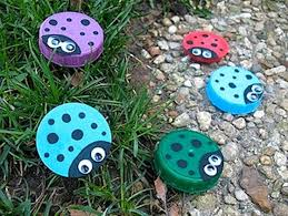 Diy Projects Plastic Bottle Caps Concrete Stepping Stones Would With Craft Bottles