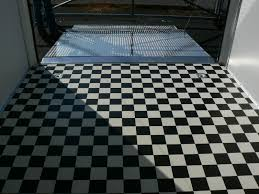 Checkerboard Vinyl Flooring For Trailers by Homesteader Champion Enclosed Car Trailer Tandem Axle Champion 8