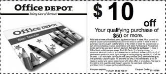 $10 off your Purchase of $50 or more at fice Depot