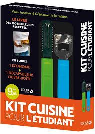 etudiant cuisine kit cuisine pour l étudiant livres de recettes 10 coffrets