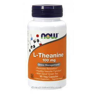 Now L-Theanine, 100 mg, 90 Capsules