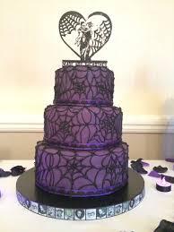 Black And Purple Gothic Wedding Cakes