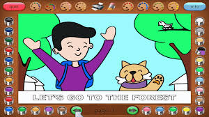 Coloring Book 32 Jim And His Dog Is A Free Software For Kids This Developed As Story Which Tells Us The About