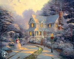 Thomas Kinkade Christmas Tree Cottage by Life In A Day Thomas Kinkade U0027s Christmas Cottage