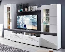 81 wohnwand anbauwand wohnzimmer weiß beton montiert