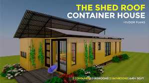 100 Containers House Designs The Shed Roof Shipping Container Design SHEDBOX 640
