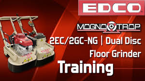 Edco Floor Grinder Polisher by Training How To Use A Magna Trap Dual Disc Floor Grinder 2ec Gc