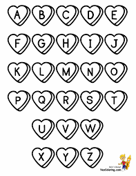 Valentines Alphabet Chart Coloring At YesColoring