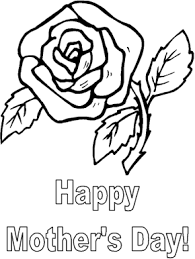 Mothers Day Flower Coloring Page