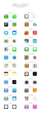 iOS 7 vs iOS 6 App icons parison