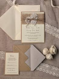 Rustic Wedding Invitation Burlap BUT Smaller Wrap No Flowers Skeleton Leaf